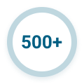 500+ statistic icon